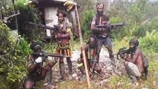 Pos Polisi Oksamol Polres Pegunungan Bintang Papua Diserang Teroris, Satu Polisi Gugur