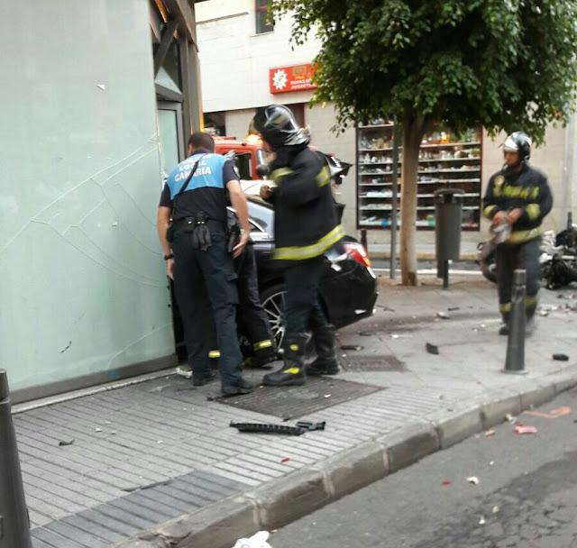 Conductor con posible infarto arrolla 10 motos, general vives, Las Palmas de Gran Canaria