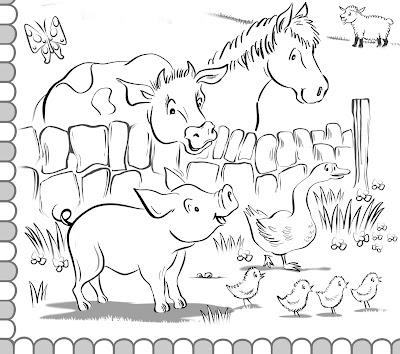 detail of colouring picture Hot Frog Graphics