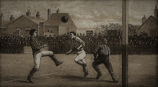 An illustration of a Victorian football match