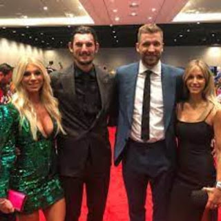The Hellebuyck Couple With Their Friends
