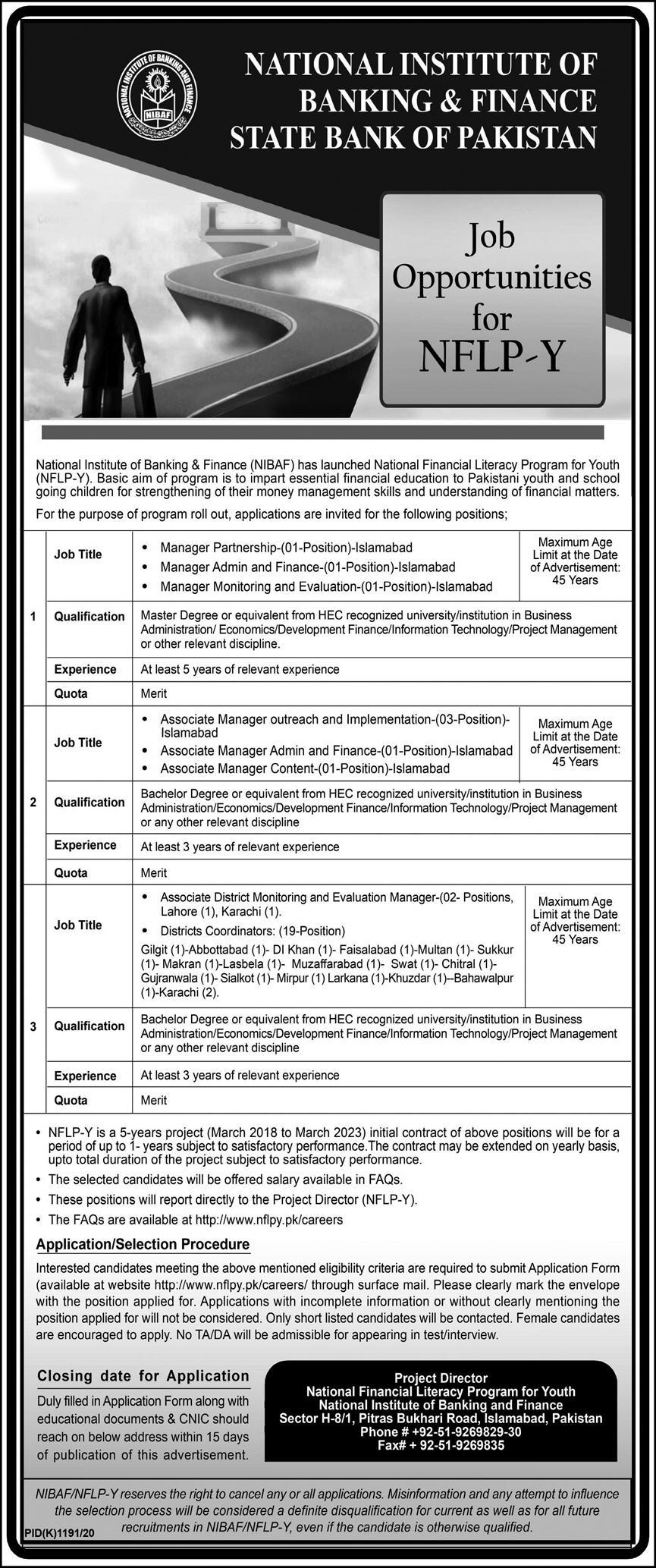 National Institute Of Banking And Finance NIBAF Latest Jobs in Pakistan