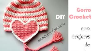 Cómo Tejer Gorro con Orejeras de Corazón a Crochet para Niña | Paso a paso
