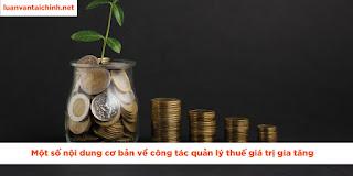 công tác quản lý thuế giá trị gia tăng