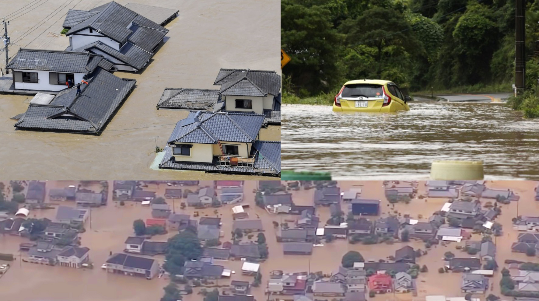 Japan Flood- 15 Deaths and 9 Missing in Heavy Rain