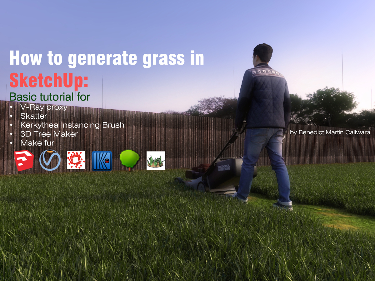 How to generate grass in SketchUp: Basic tutorial for V-Ray proxy