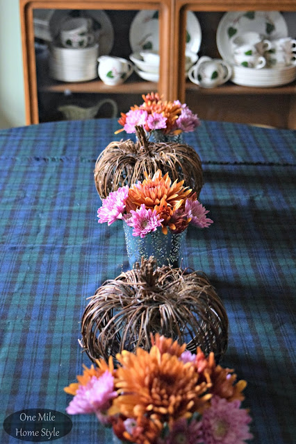 Supermarket Flowers into 3 Beautiful Centerpieces - Rustic Look #2 | One Mile Home Style
