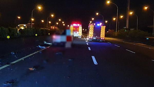 8旬老翁騎機車誤闖國道一號 遭轎車撞上身亡