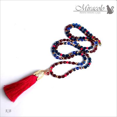 Miracolo, długi naszyjnik z chwostem, naszyjnik w stylu boho