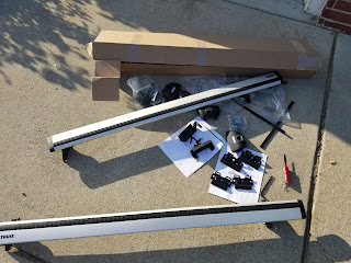 Subaru Crosstrek Hybrid Crossbars box contents
