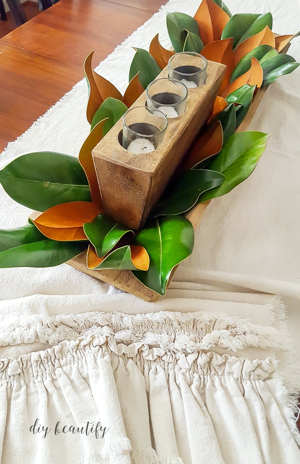 magnolia leaf centerpiece