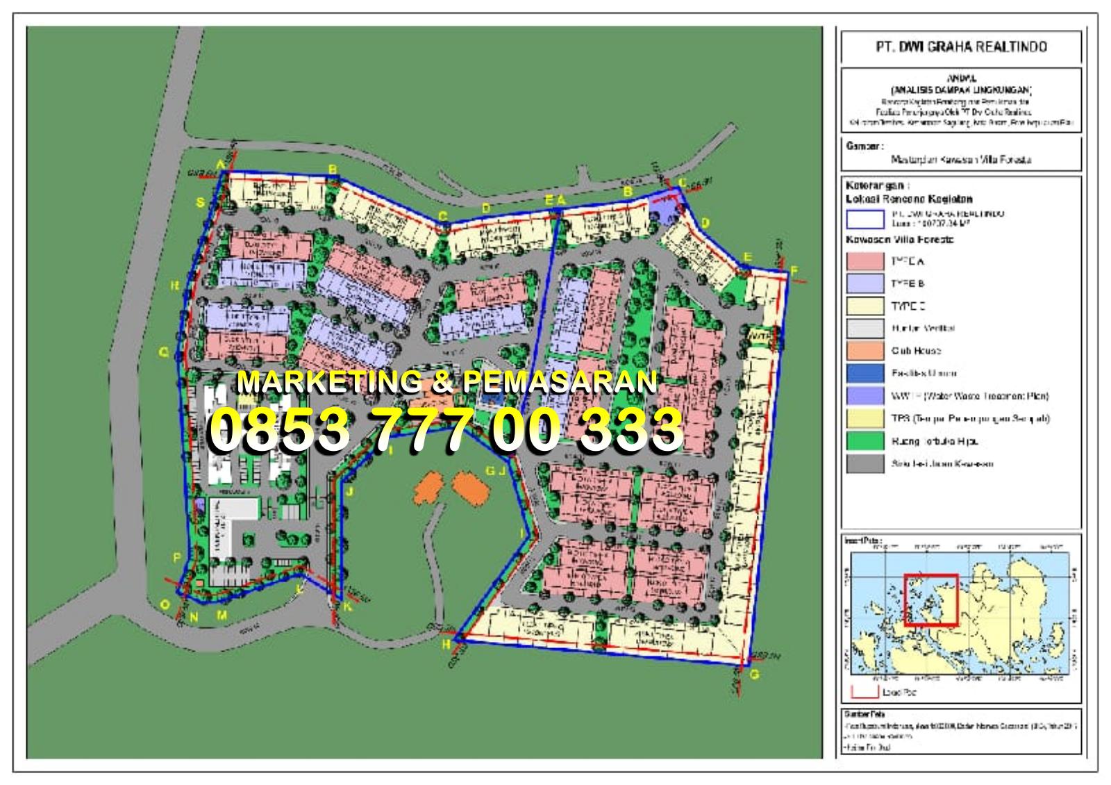 Site Plan Cemara Park Residence