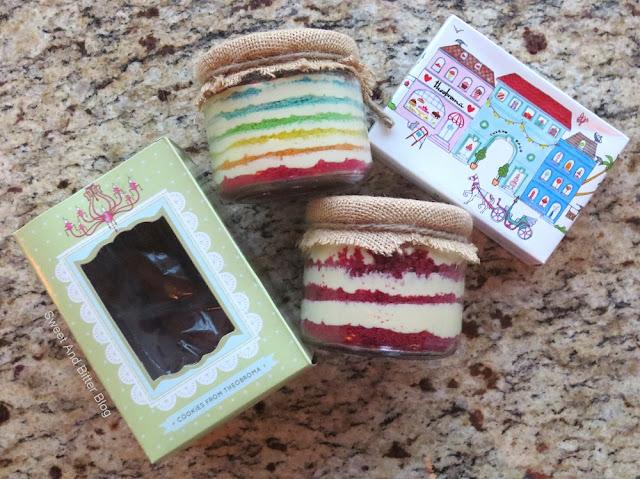 Theobroma Cake in a Jar and Cookies