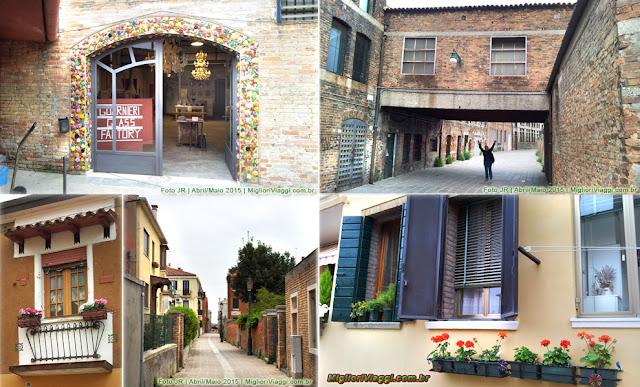 Ruas de Murano | Casas e fábricas de vidro