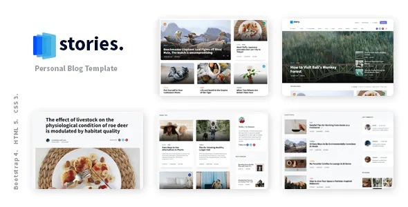 Best Personal Blog HTML Template