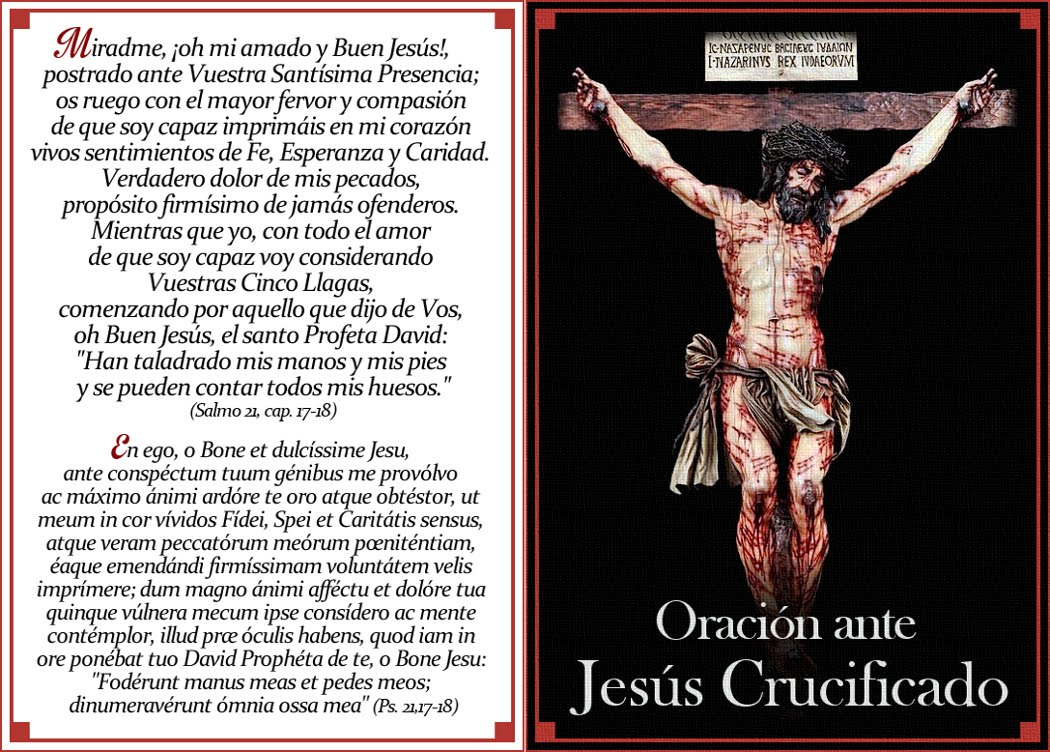 ORACIÓN ANTE JESÚS CRUCIFICADO