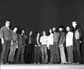 1970 Promotional Photo © John Rowlands; from left - Pete Pantaluk, Don DiNovo, Keith Jollimore, Ralph Cole, Skip Prokop, Larry Smith, Bob McBride, Howard Shore, Dick Armin, Paul Hoffert, Louie Yacknin.