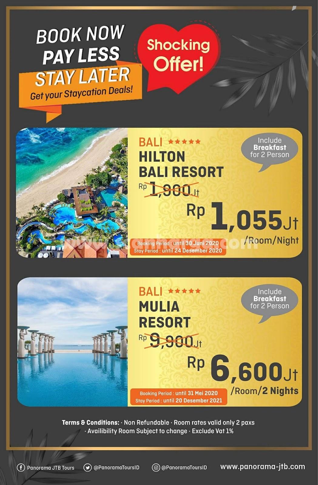 Promo Panorama JTB Tours Special Menginap Di Hotel Bali Harga Hanya 1 Jutaan
