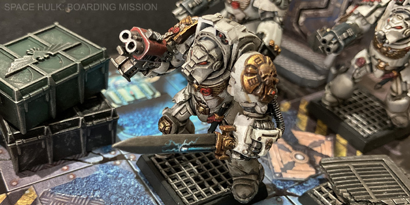 Space Hulk Terminator Captain with grenade launcher