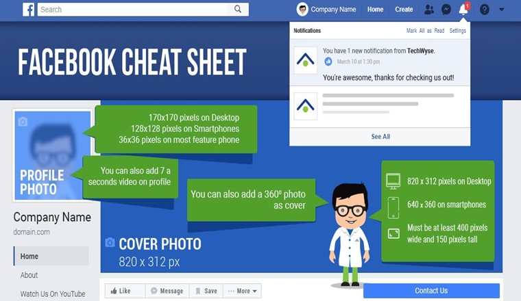 The Complete Facebook Image Sizes and Ad Dimensions Cheatsheet (2020)