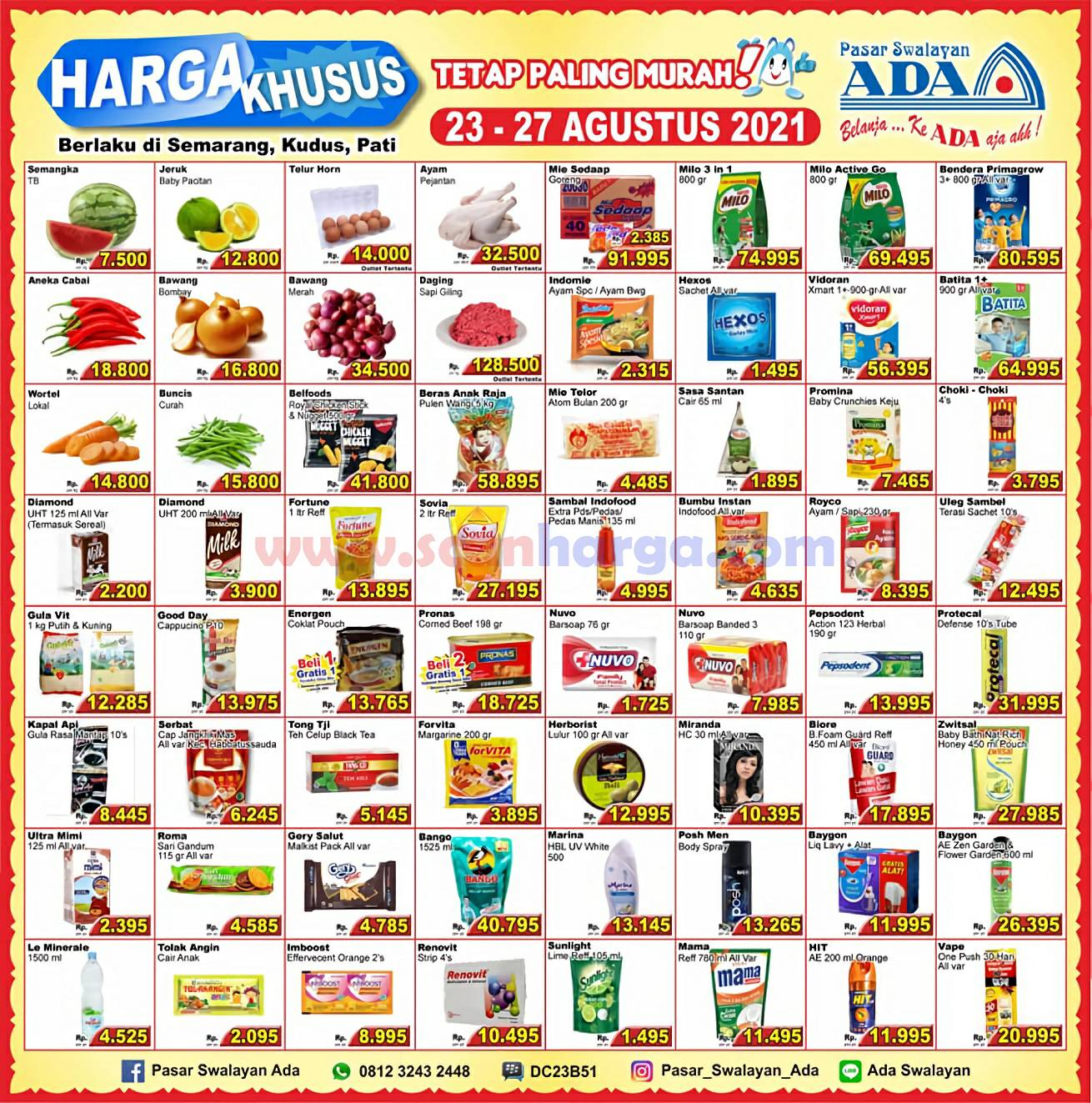 Promo Katalog Ada Swalayan Weekday Harga Khusus 23 - 27 Agustus 2021
