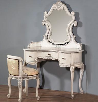 meja rias duco putih model klasik