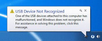 how to solve usb device not recognized, usb device, usb device not recognized