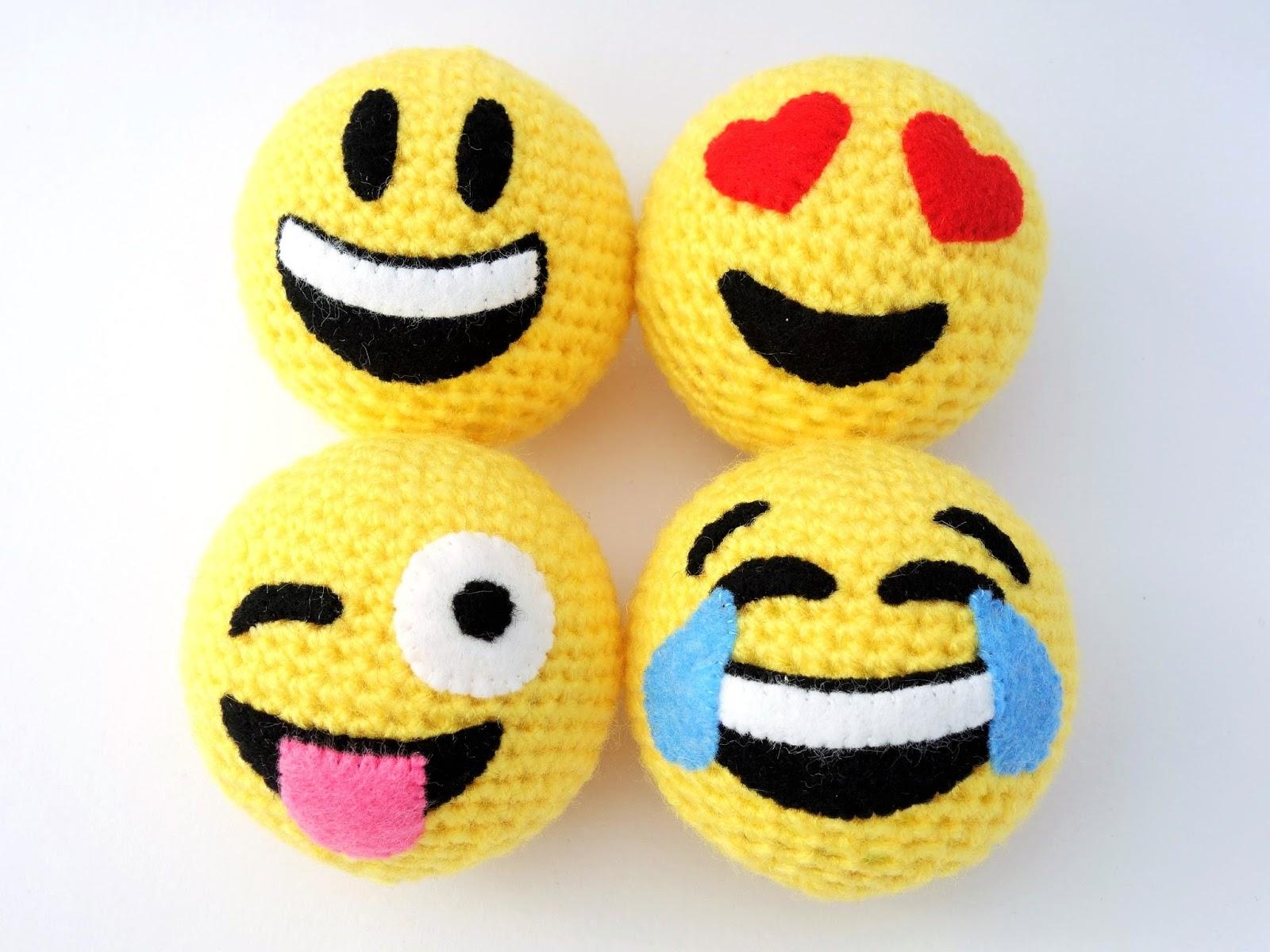 Always Arty Crochet Emoji Balls