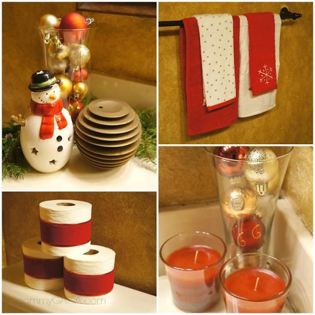 Decoración baño navidad