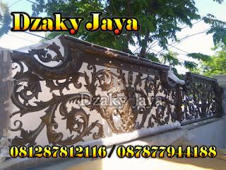 Gambar Pagar Besi Tempa Mewah di SURABAYA
