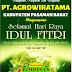 "PT. AGROWIRATAMA Mengucapkan, ""Selamat Idul Fitri 1442 H""."