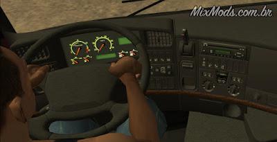 gta sa san mod caminhão leve pc fraco scania v8 interior