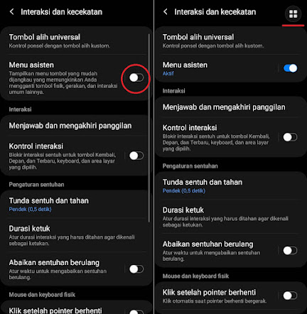 Screenshot Samsung A02s Tanpa Tombol