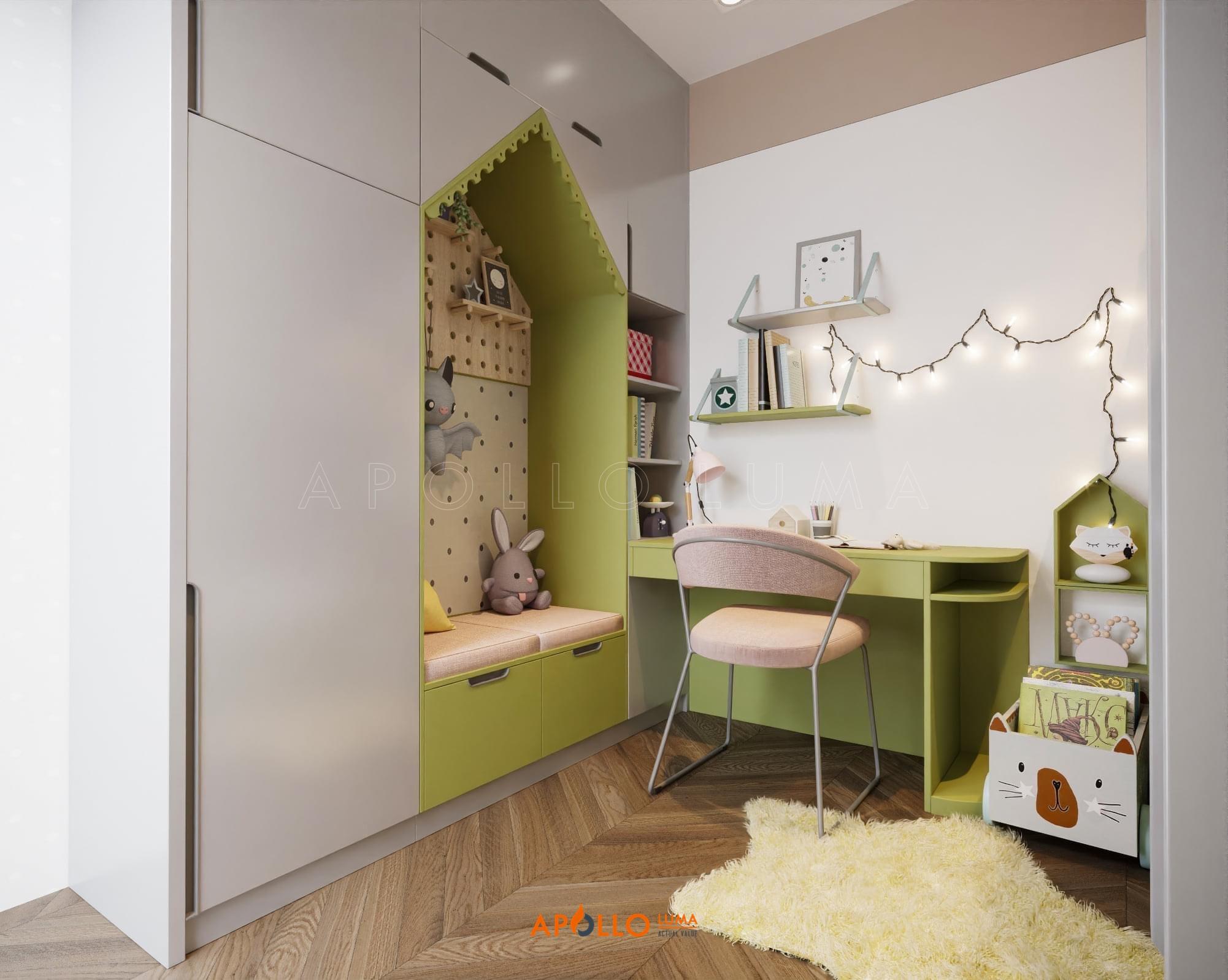 Thiết kế nội thất căn 2PN (88m2) R2-12 Royal City phong cách Tân Cổ Điển
