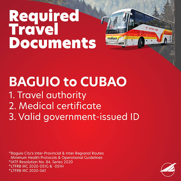Baguio to Cubao Travel Requirements