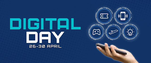 #Shopee - #Promo Digital Day & Cashback Hingga 750K (s.d 30 April 2019)