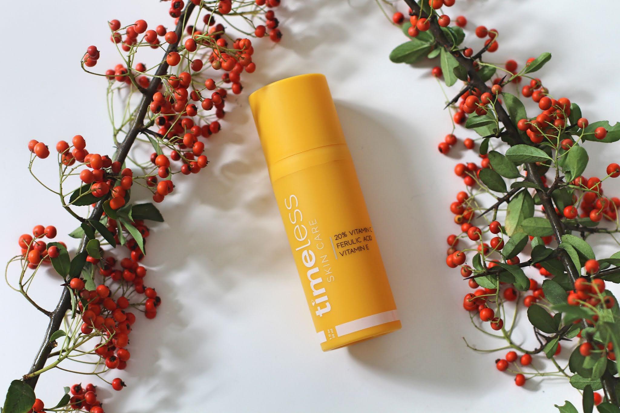 Timeless - Skin Care - 20% Vitamin C + E Ferulic Acid Serum - Serum z Witaminą C i E Oraz Kwasem Ferulowym