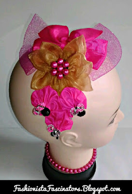 Pink wedding fascinators in Kenya