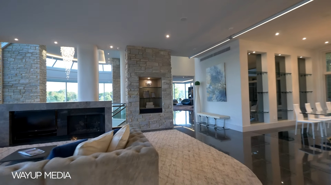 58 Interior Photos vs. Matthew Stafford's MI Luxury Modern Mansion Tour (1867 Long Pointe Dr, Bloomfield Hills)