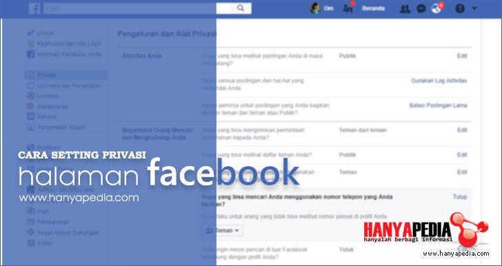 Cara Agar Wall Facebook Tidak Bisa Dilihat Orang Lain