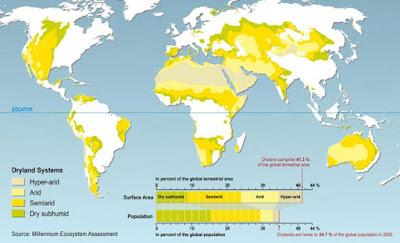 Aride en semi aride gebieden op aarde