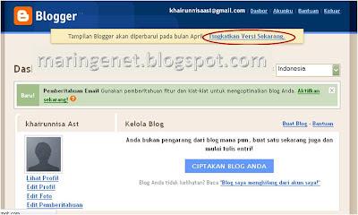 Membuat posting, menulis artikel, blogspot