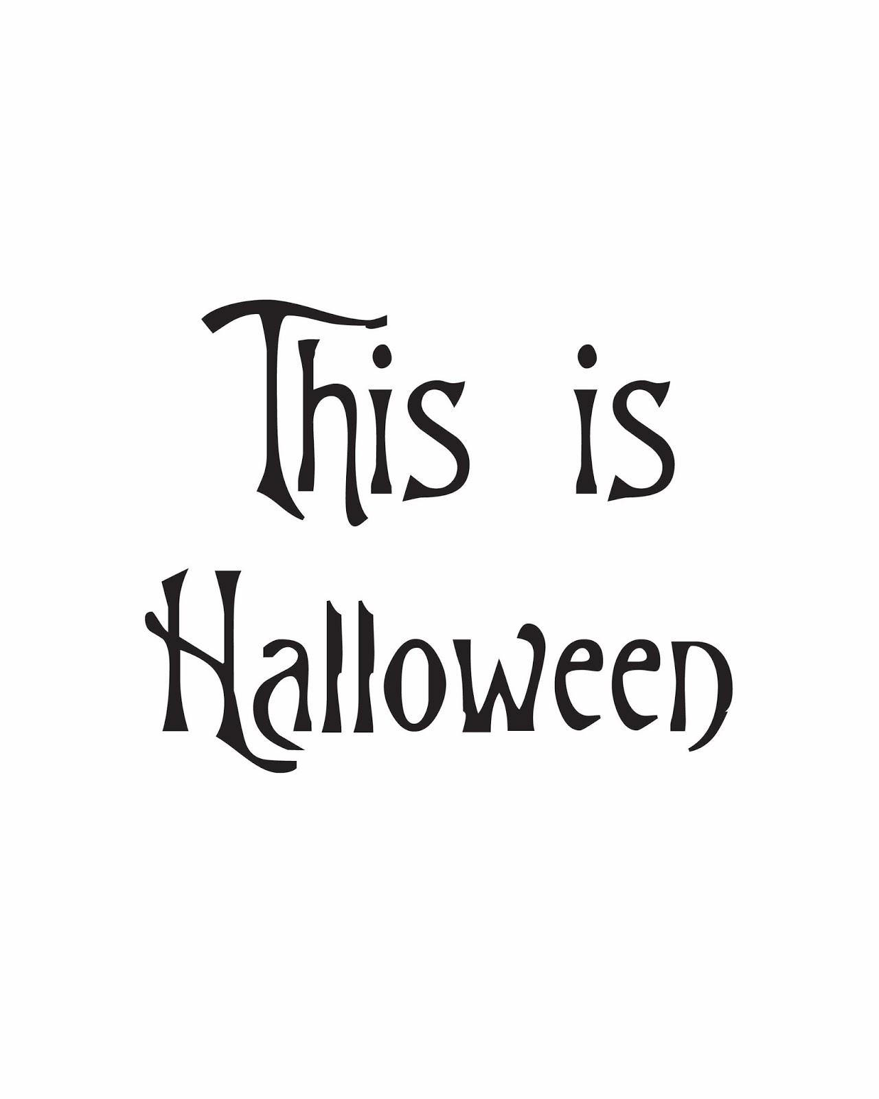 FREE Halloween Printable: The Nightmare Before Christmas \
