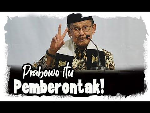 Habibie Sindir Prabowo Sebagai Pemberontak yang Hanya Manfaatkan Tuhan Demi Kepentingan Pribadi