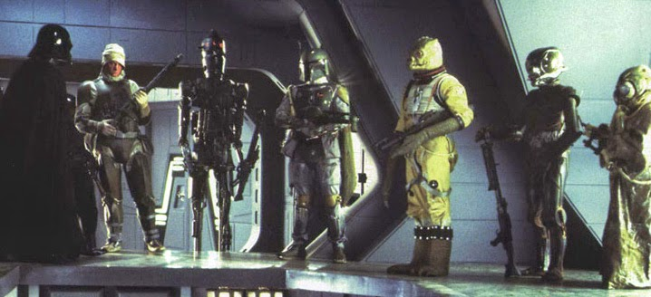 Bounty hunter line up from Empire Strikes Back