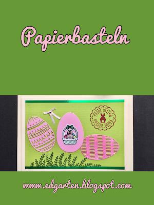 Pin mit Osterkarte