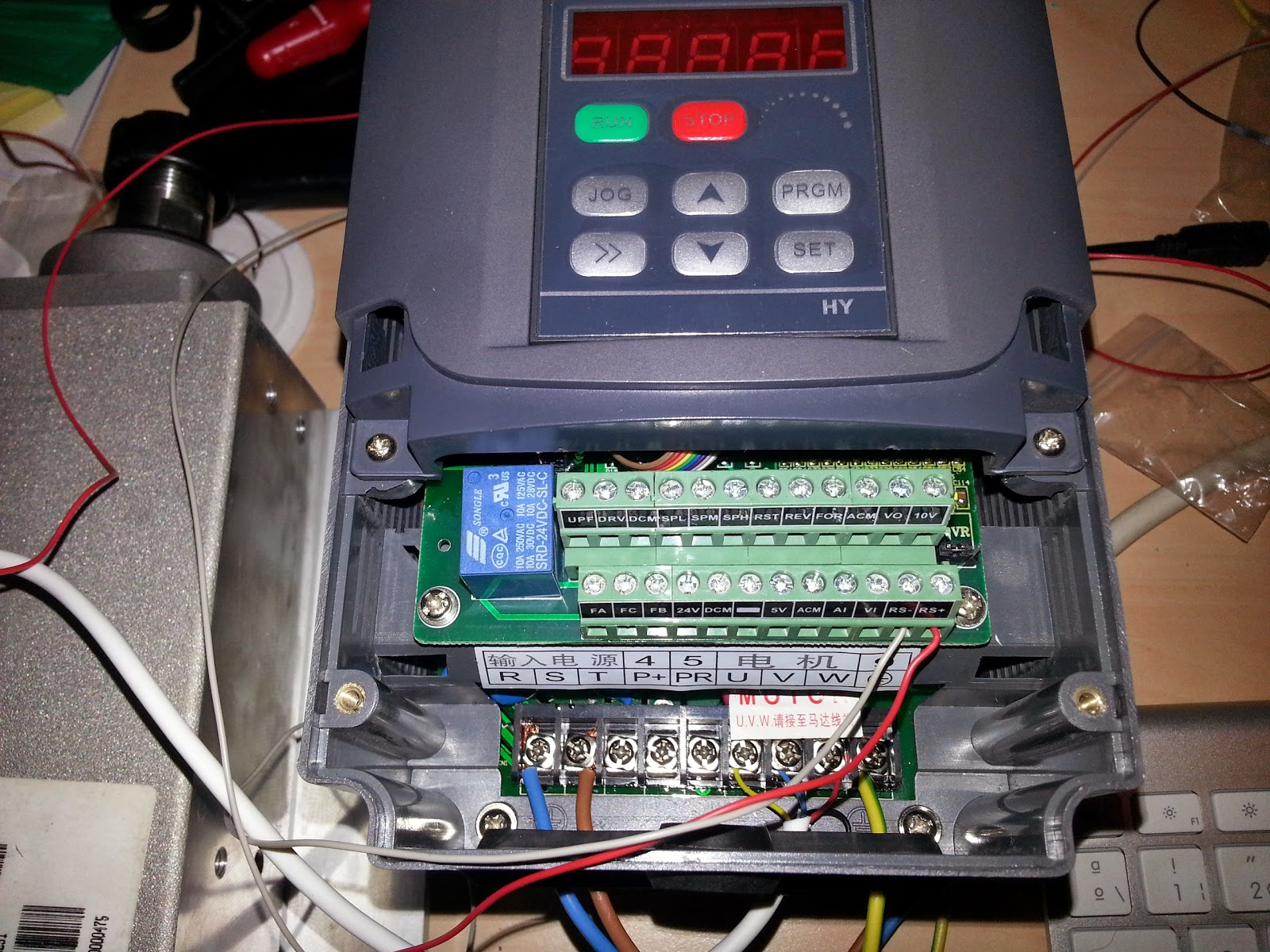 medium resolution of i am using a popular i mean cheap chinese vfd and though the reference manual is not great i could see there is a built in rs 485 port i usually control
