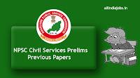 NPSC Civil Services Prelims Previous Papers