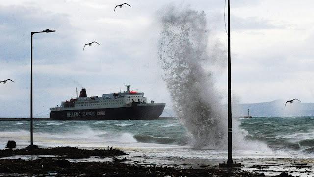 Θυελλώδεις άνεμοι 11 μποφόρ στο Αιγαίο - Σε ισχύ απαγορευτικό απόπλου