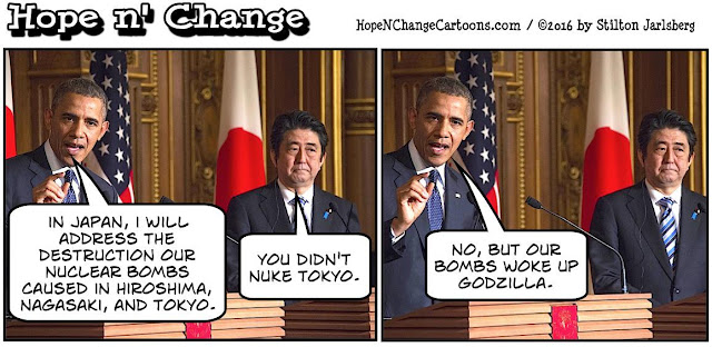 obama, obama jokes, political, humor, cartoon, conservative, hope n' change, hope and change, stilton jarlsberg, hiroshima, atomic bomb, nuclear, hydrogen bomb